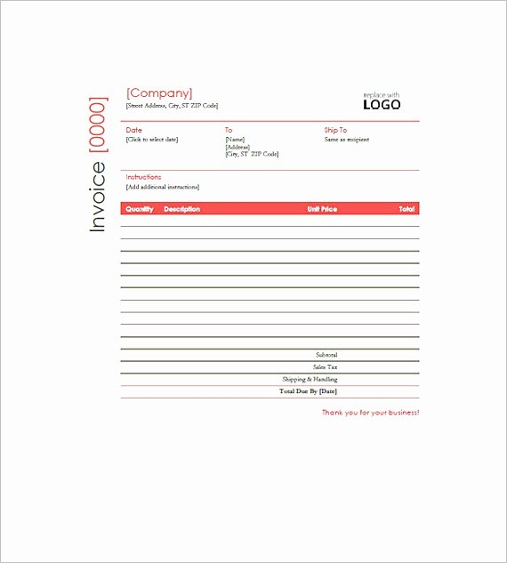 Free Construction Invoice Template Fresh Construction Invoice Templates