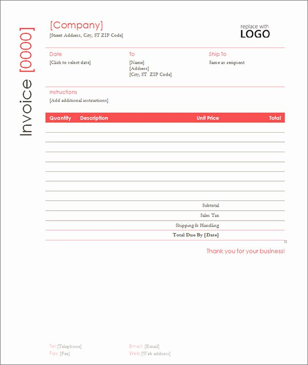 Free Construction Invoice Template Unique Sample Contractor Invoice Templates 14 Free Documents