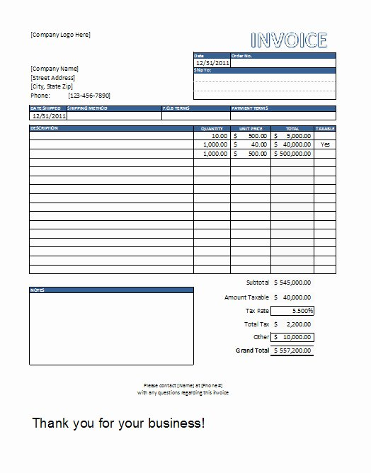 Free Contractor Invoice Template Lovely Free Construction Invoice Template Word
