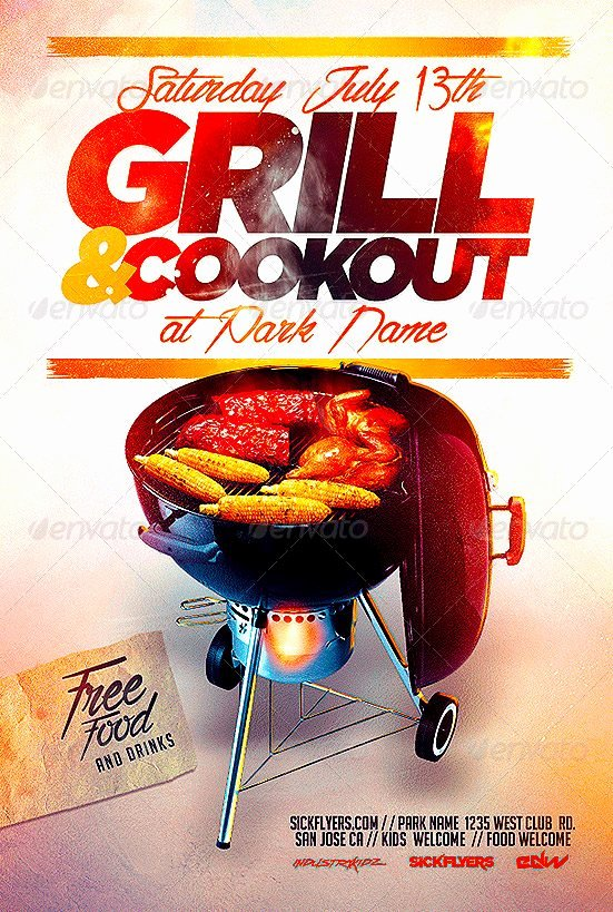 Free Cookout Flyer Template Best Of Best 10 Bbq Summer Party Flyer Templates Psd Flyer for