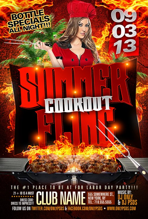 Free Cookout Flyer Template Best Of Summer Fling Cookout Flyer Template