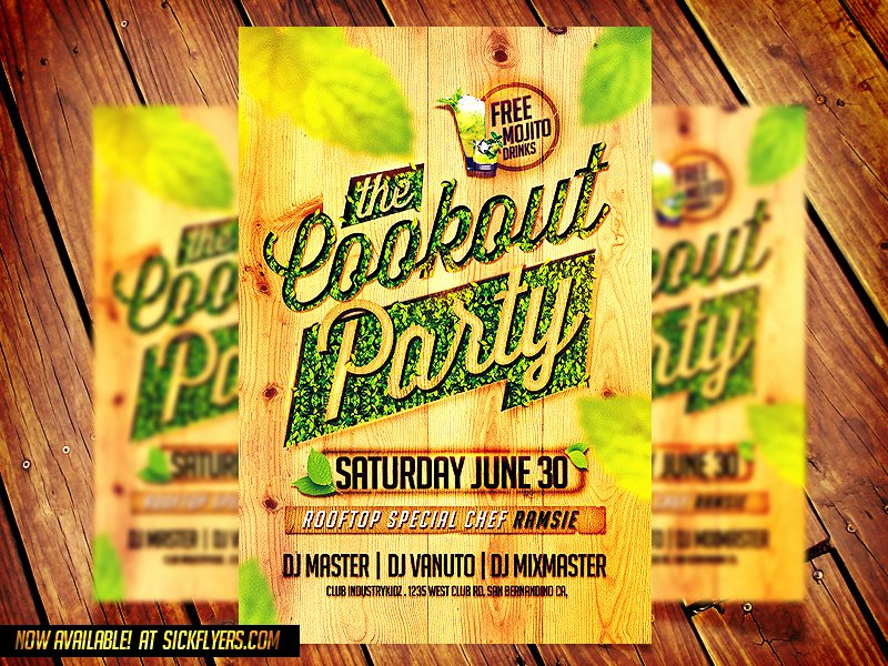 Free Cookout Flyer Template Elegant Cookout Party Flyer Template by Industrykidz On Deviantart