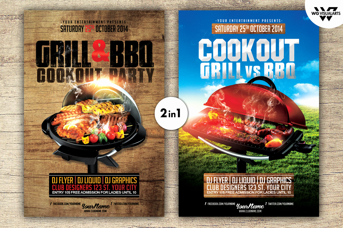 Free Cookout Flyer Template Elegant Grill Bbq Cookout Flyer Template Flyer Templates On