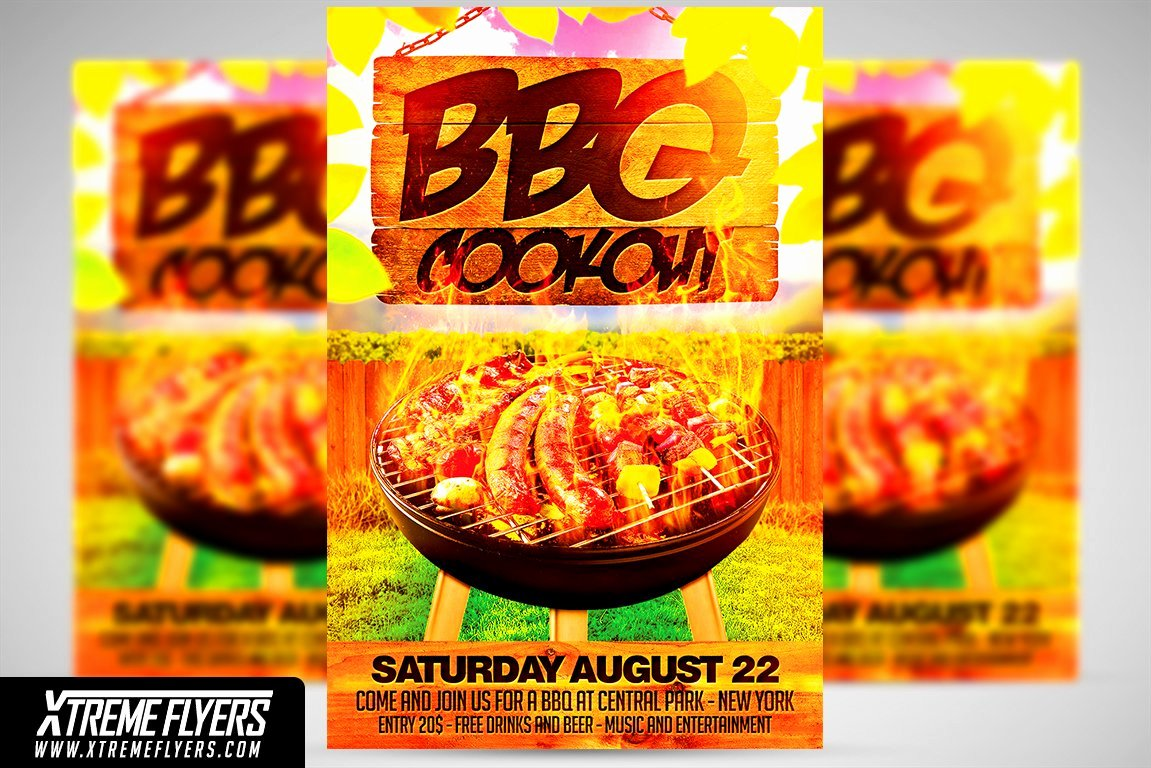 Free Cookout Flyer Template Fresh Bbq Cookout Flyer Template Flyer Templates Creative Market
