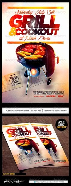 Free Cookout Flyer Template Inspirational Free Bbq Party Flyer Template