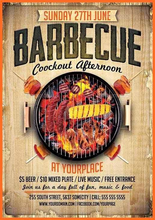 Free Cookout Flyer Template Luxury Bbq Flyers Planet Flyers