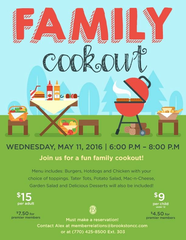 Free Cookout Flyer Template Luxury Family Cookout event Flyer Poster Template Bbq