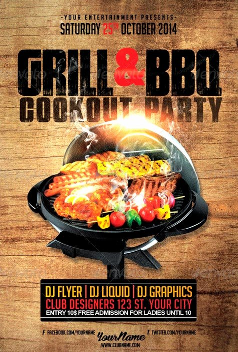 Free Cookout Flyer Template Unique 19 Bbq Flyer Template Psd Bbq Party Flyer