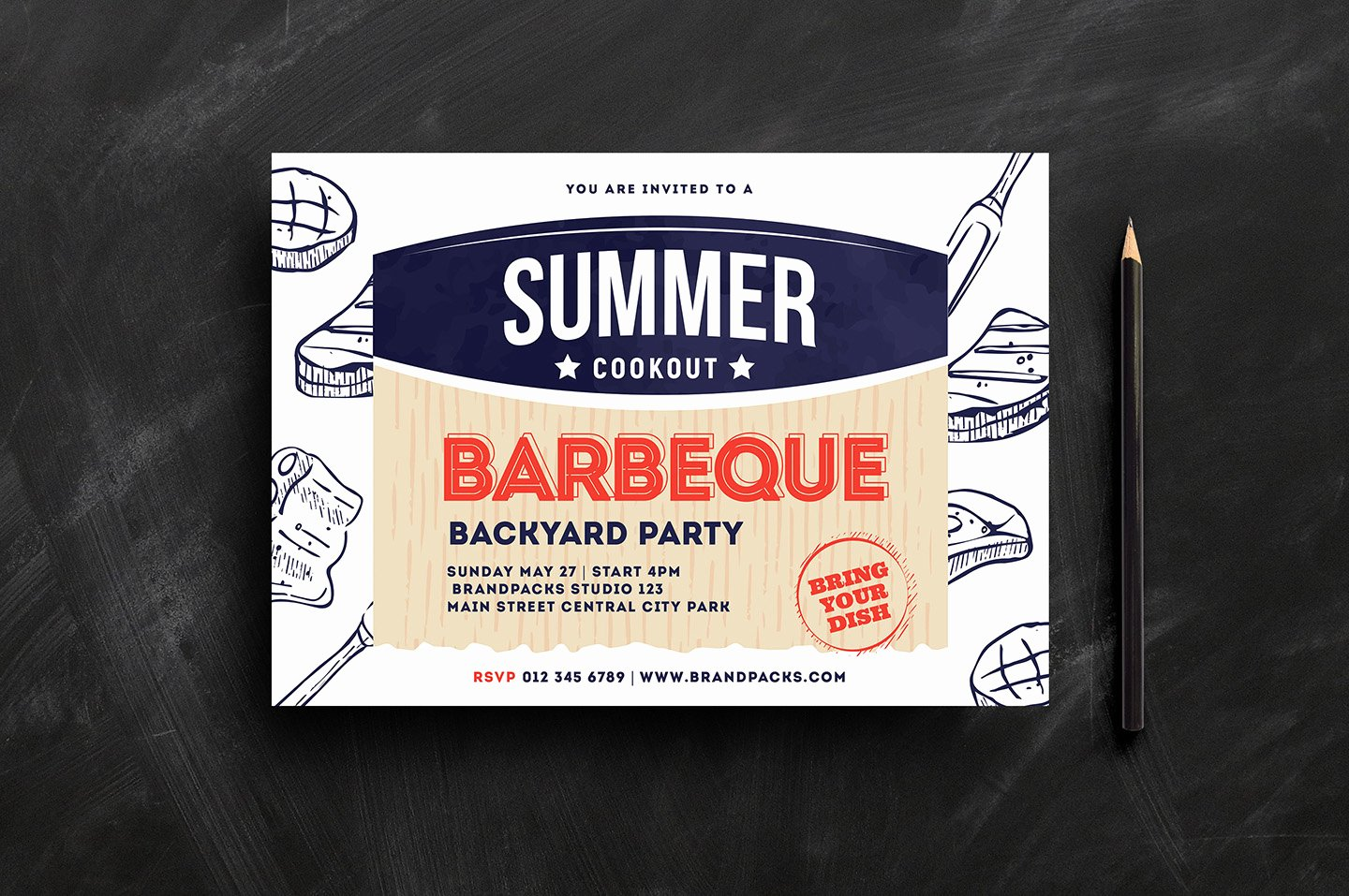 Free Cookout Flyer Template Unique Cookout Flyer Template Psd Ai & Vector Brandpacks