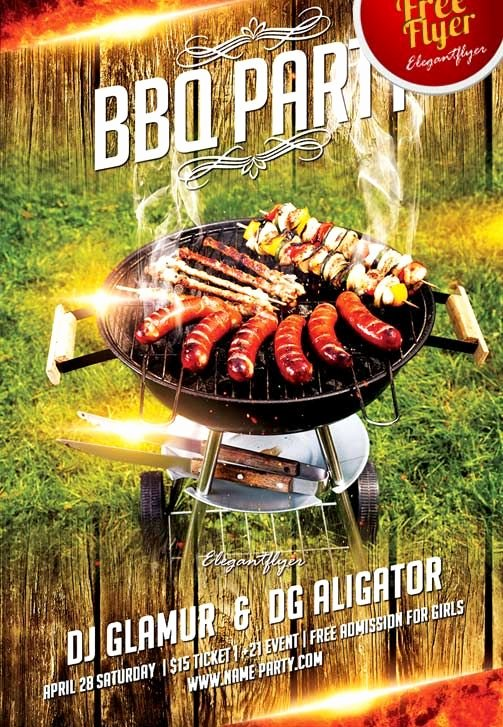 Free Cookout Flyer Template Unique Free Bbq Party Flyer Template