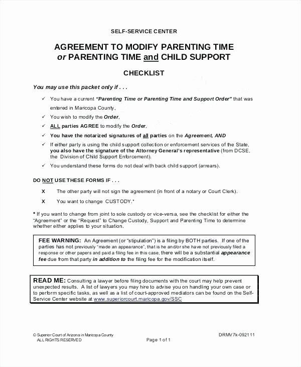 Free Custody Agreement Template Lovely Parenting Agreement Templates 8 Free Documents Download