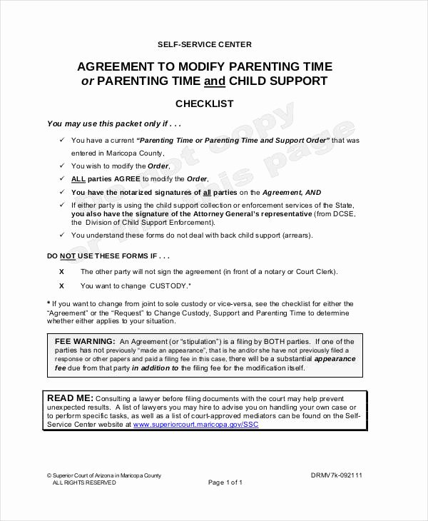 Free Custody Agreement Template Unique Parenting Agreement Templates 8 Free Pdf Documents