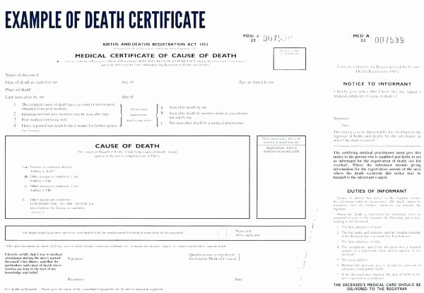 Free Death Certificate Template Best Of Blank Death Certificate Uk Template Example – asctech