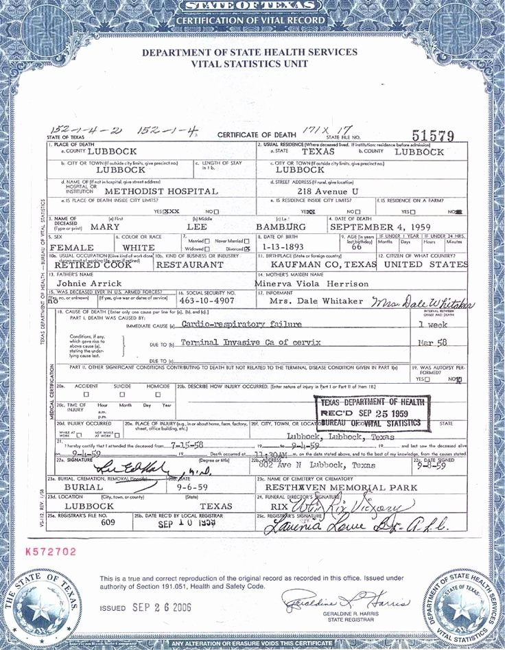 Free Death Certificate Template Best Of Death Certificate Certificate Templates and Death On