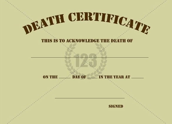 Free Death Certificate Template Inspirational 8 Death Certificate Templates Psd Ai Illustrator Word