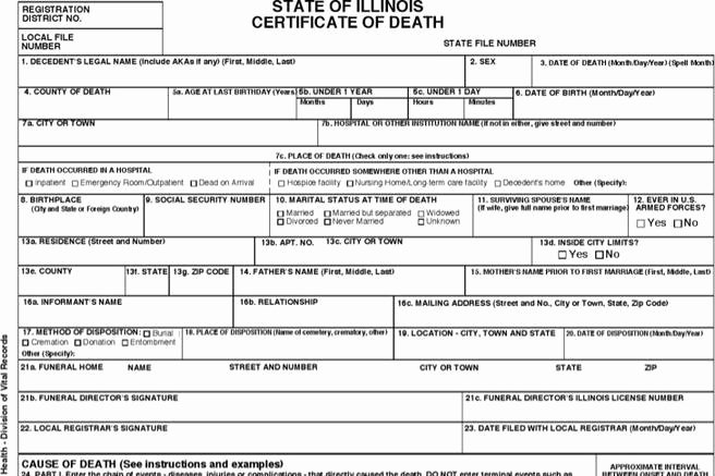 Free Death Certificate Template Lovely 10 Sample Printable Certificate Templates Free Download