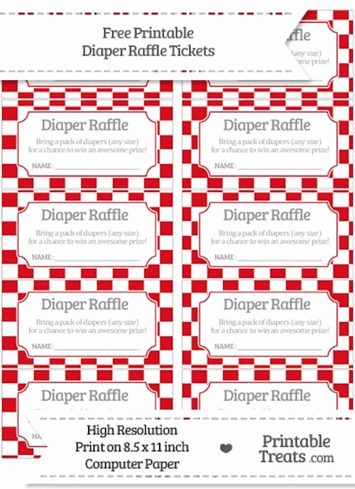 Free Diaper Raffle Template Awesome 10 Free Printable Diaper Raffle Tickets