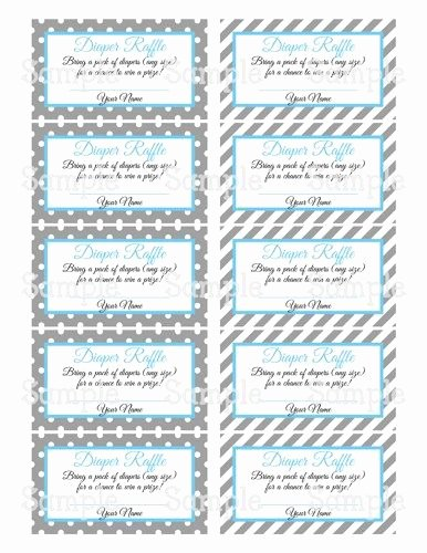 Free Diaper Raffle Template Best Of Printable Moustache Gray & Blue Baby Shower Diaper Raffle