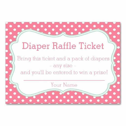 Free Diaper Raffle Template Inspirational Diaper Raffle Ticket Template