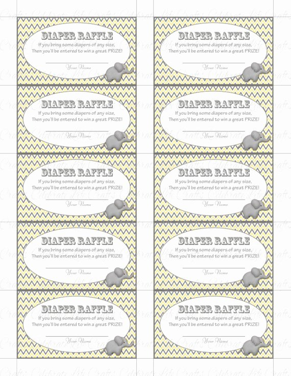 Free Diaper Raffle Template Inspirational Printable Diaper Raffle Tickets Baby Shower Instant Download