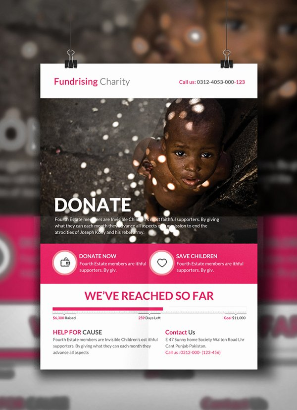 Free Donation Flyer Template Unique Charity Donation Flyer Template On Behance