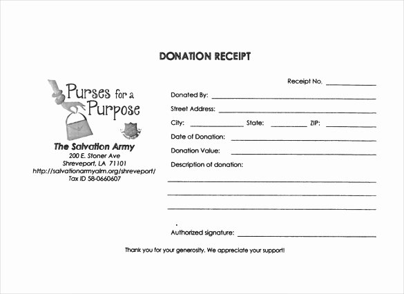 Free Donation Receipt Template New 23 Donation Receipt Templates – Pdf Word Excel Pages