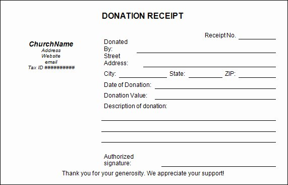 Free Donation Receipt Template Unique Church Donation Templates Paper Donation Receipt Templates