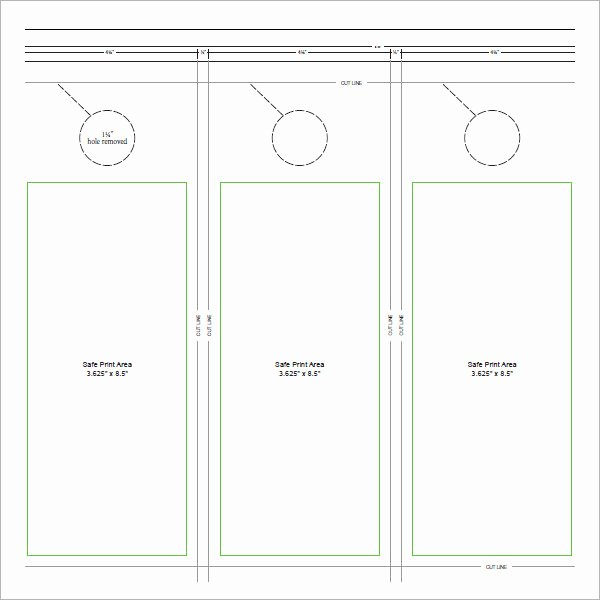 Free Door Hanger Template Fresh 15 Door Hangers
