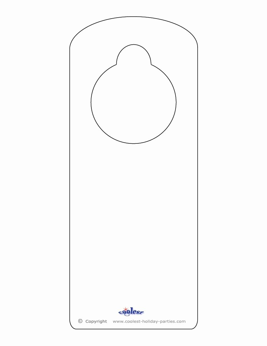 Free Door Hanger Template Fresh Blank Printable Doorknob Hanger Template