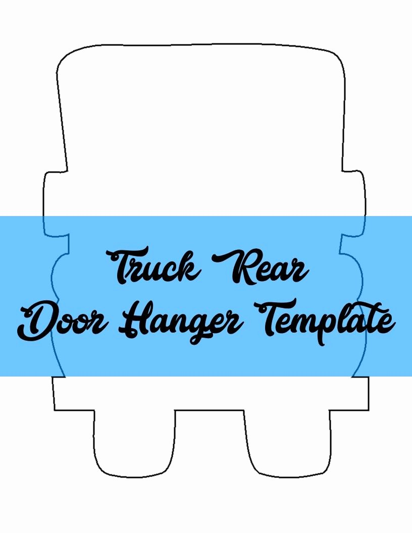 Free Door Hanger Template Inspirational Truck Rear Door Hanger & Wreath attachment Template