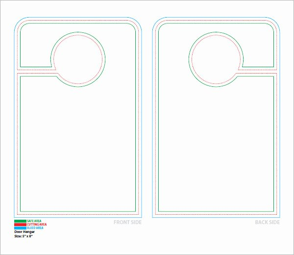 Free Door Hanger Template Lovely 15 Door Hangers