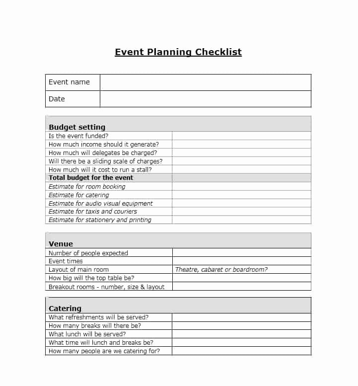 Free event Plan Template Best Of 50 Professional event Planning Checklist Templates