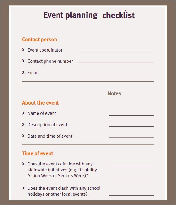 Free event Plan Template Fresh event Planning Checklist 7 Download Free Documents In Pdf