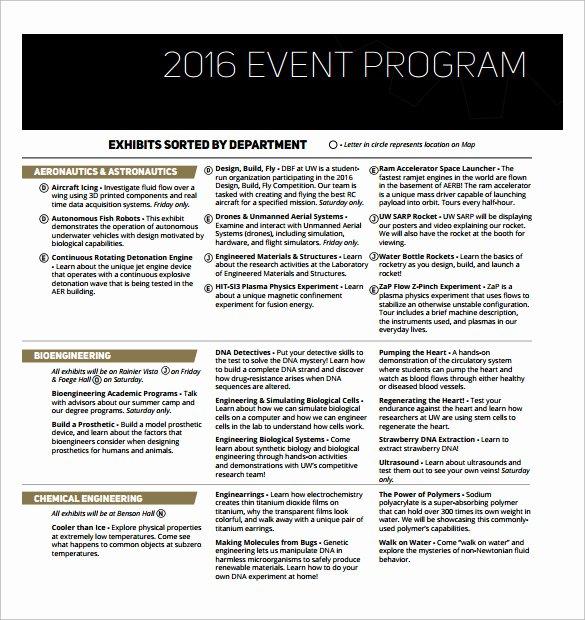 Free event Program Template Beautiful event Program Template