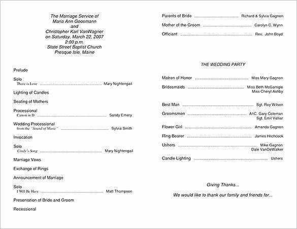 Free event Program Template Beautiful Wedding Ceremony Program Template 36 Word Pdf Psd