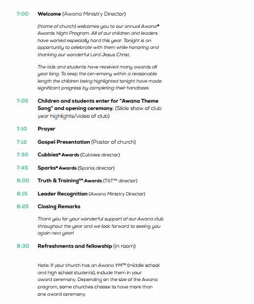 Free event Program Template Best Of 4 Awards event Program Templates formats Examples In