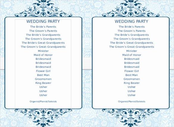 Free event Program Template Elegant 8 Word Wedding Program Templates Free Download