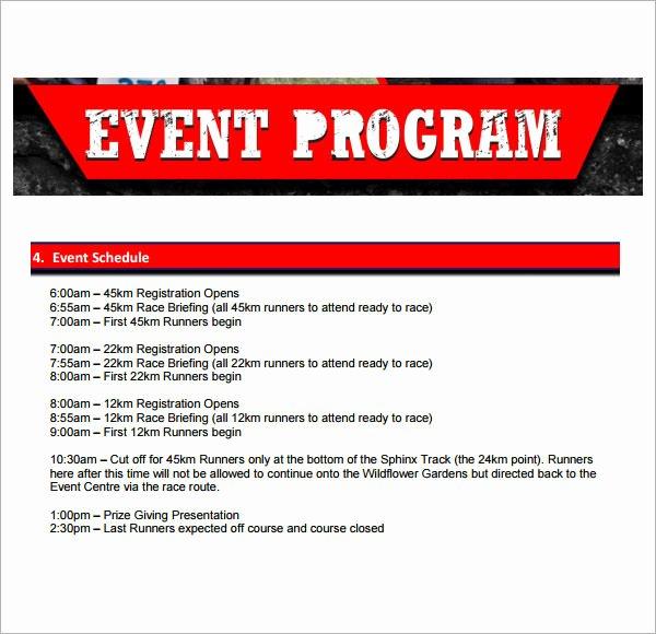 Free event Program Template Elegant event Program Gallery