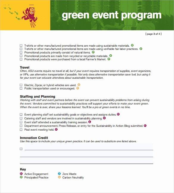 Free event Program Template New event Program Template