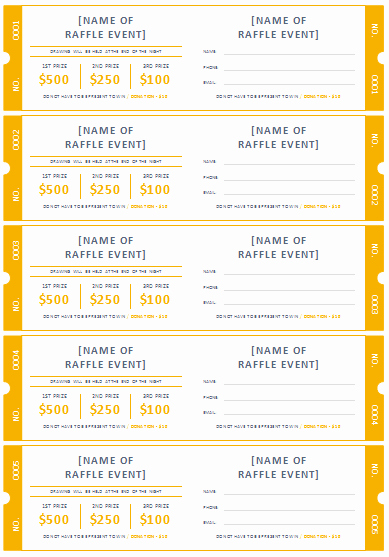 Free event Ticket Template Fresh 45 Raffle Ticket Templates