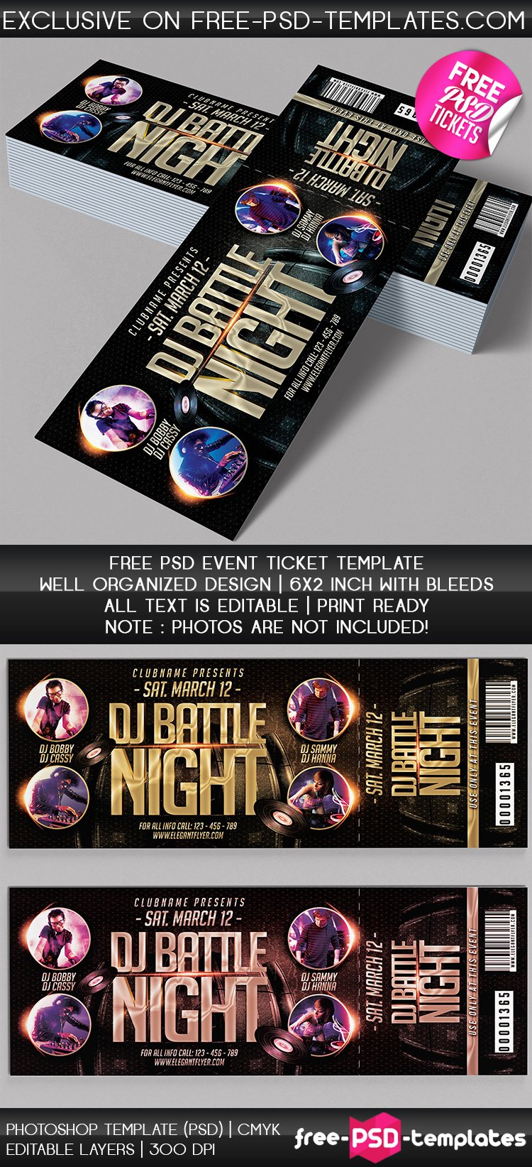 Free event Ticket Template Luxury Free Psd event Tickets
