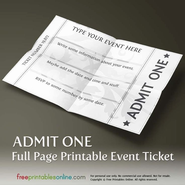 Free event Ticket Template New Best 25 Ticket Template Free Ideas On Pinterest