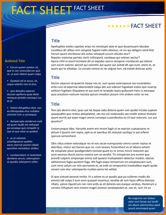 Free Fact Sheet Template Awesome 8 Fact Sheet Template Microsoft Wordreference Letters