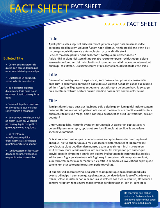 Free Fact Sheet Template Awesome Fact Sheet Template