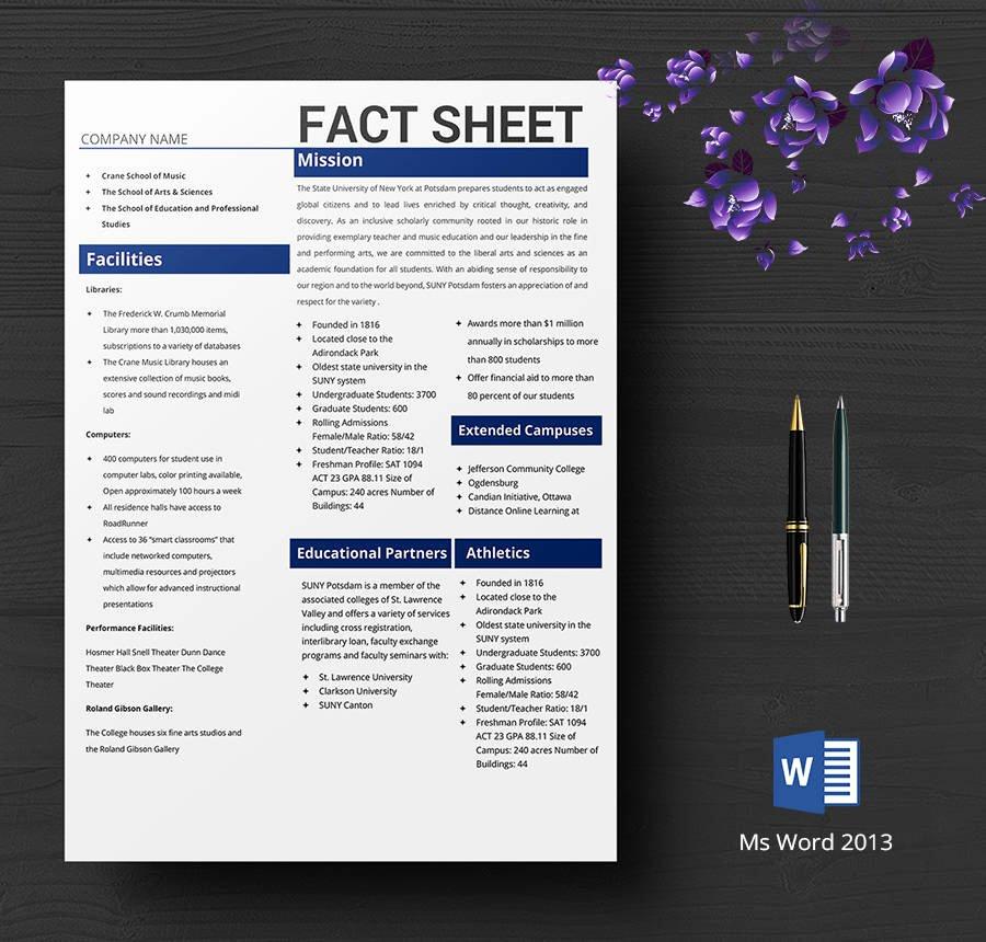 Free Fact Sheet Template Luxury 8 Free Fact Sheet Templates Survey Campaign