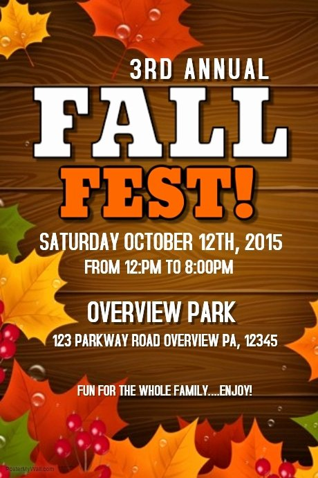 Free Fall Flyer Template Awesome Fall Fest Template