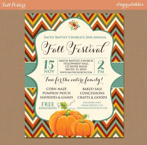 Free Fall Flyer Template Awesome Fall Festival Harvest Invitation Poster Pumpkin Patch Farm