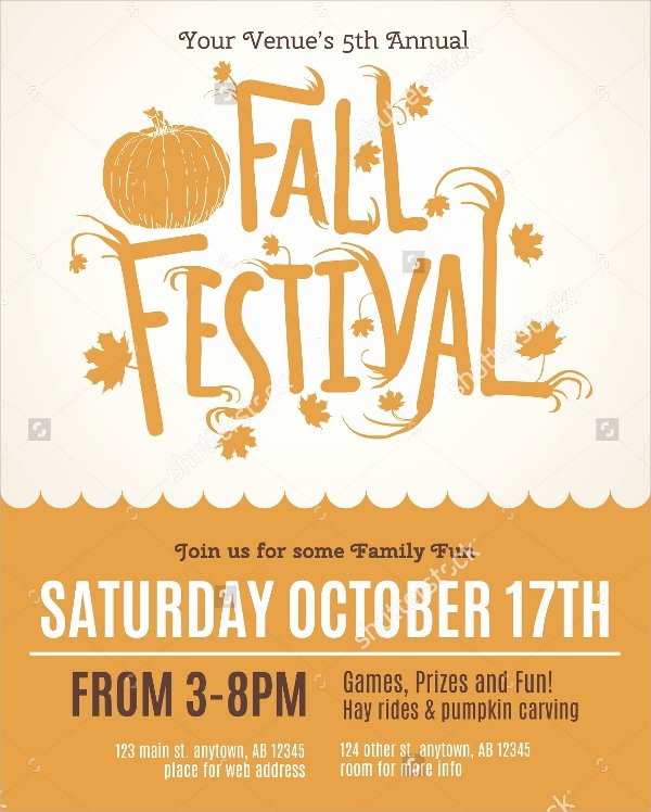 Free Fall Flyer Template Beautiful 21 Fall Flyer Templates