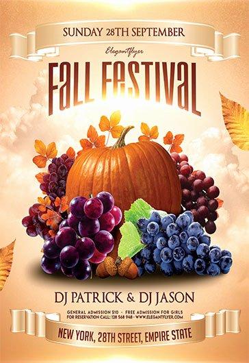 Free Fall Flyer Template Beautiful Fall Festival – Free Flyer Psd Template – by Elegantflyer