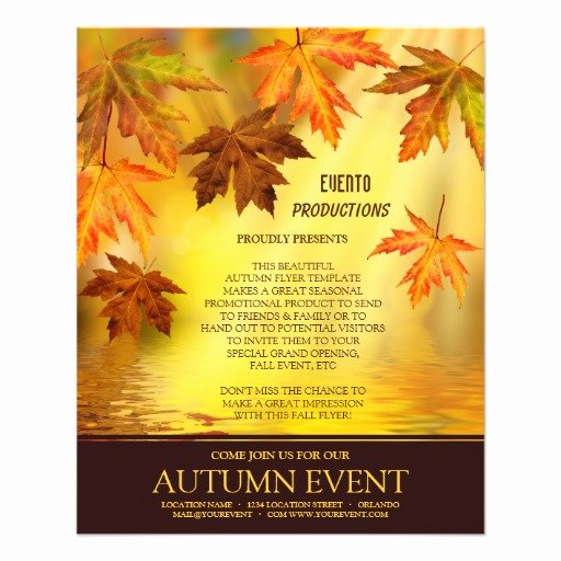 Free Fall Flyer Template Beautiful Free event Flyer Templates